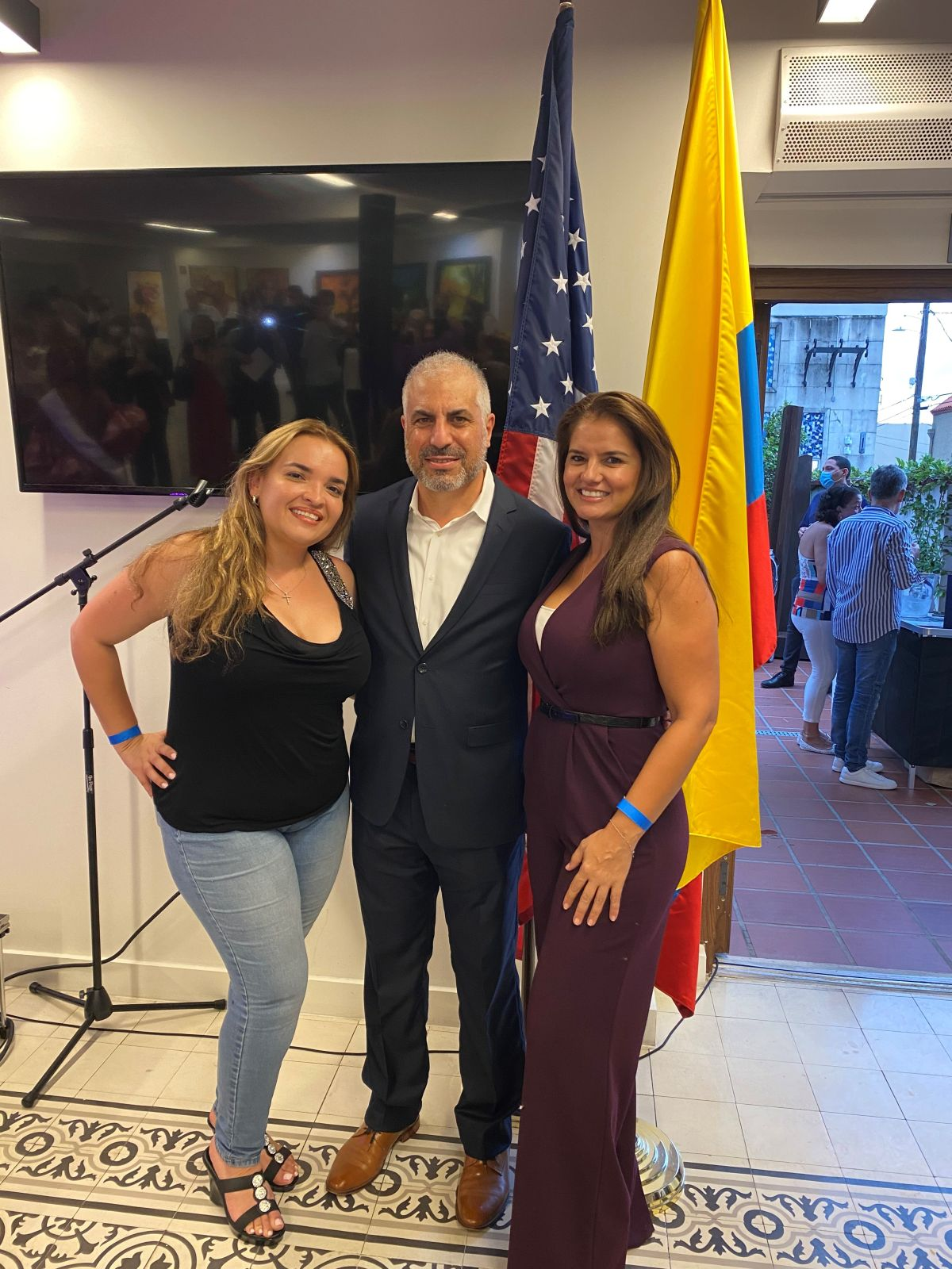 COLBAR celebrating Colombia's Indepedence at Colombia's Consulate in Coral Gables